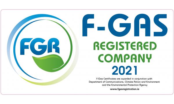 F Gas Registration Van Labels 2021 x 10no