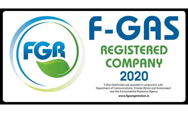 F Gas Registration Van Labels 2020 x 10no